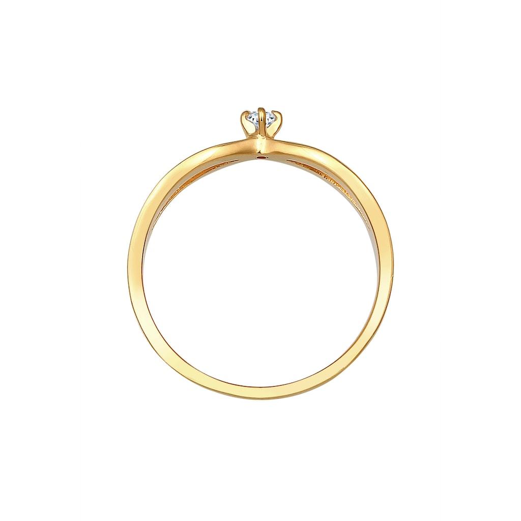 Diamore Verlobungsring »Verlobung Vintage Diamant (0.03 ct.) 585 Gelbgold«