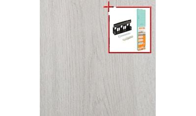 BODENMEISTER Spar - Set: Laminat »Dielenoptik Eiche weiß«, 1376 x 193 mm, Stärke: 7mm kaufen