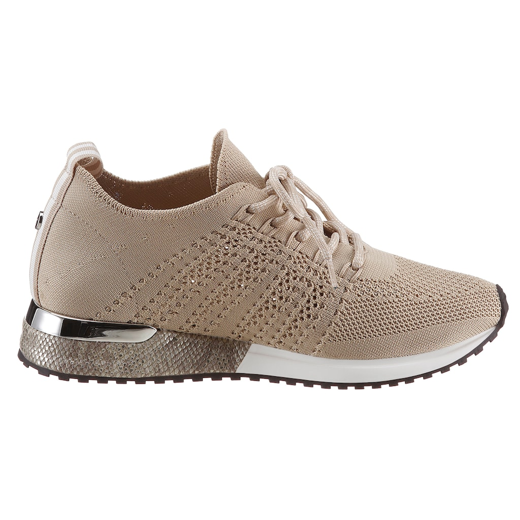 La Strada Keilsneaker »Fashion Sneaker«, mit Metallicdetails am Absatz