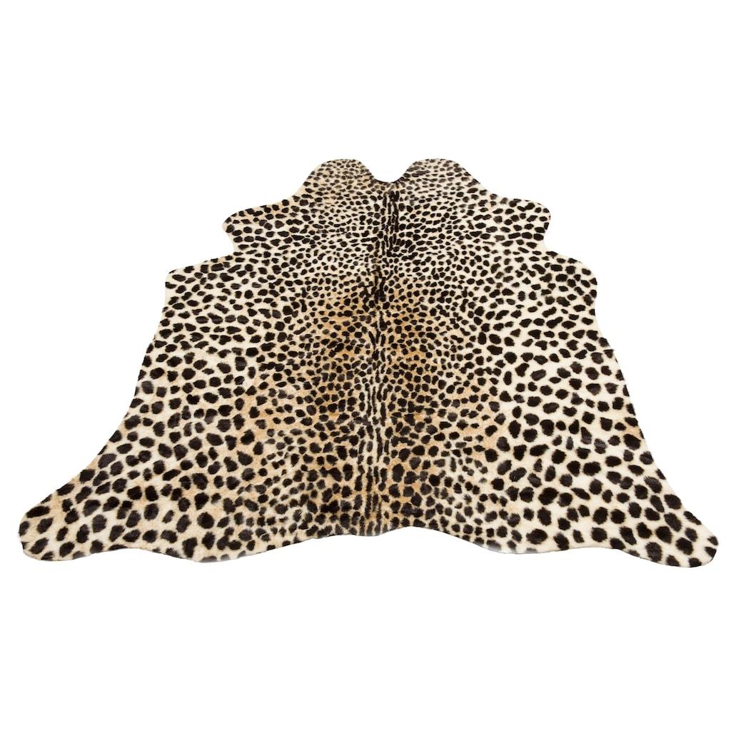 my home Fellteppich »Leopard look«, fellförmig, 8 mm Höhe, Kunstfell, Leoparden-Optik, Wohnzimmer