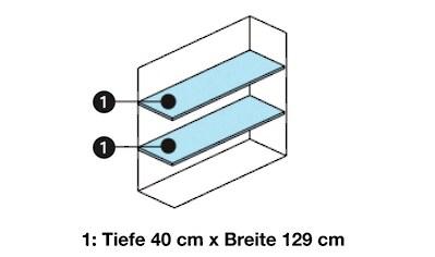 WOLFF FINNHAUS Regalböden »für Geräteschrank 135«, 2 Stück: BxT: 129x42 cm kaufen