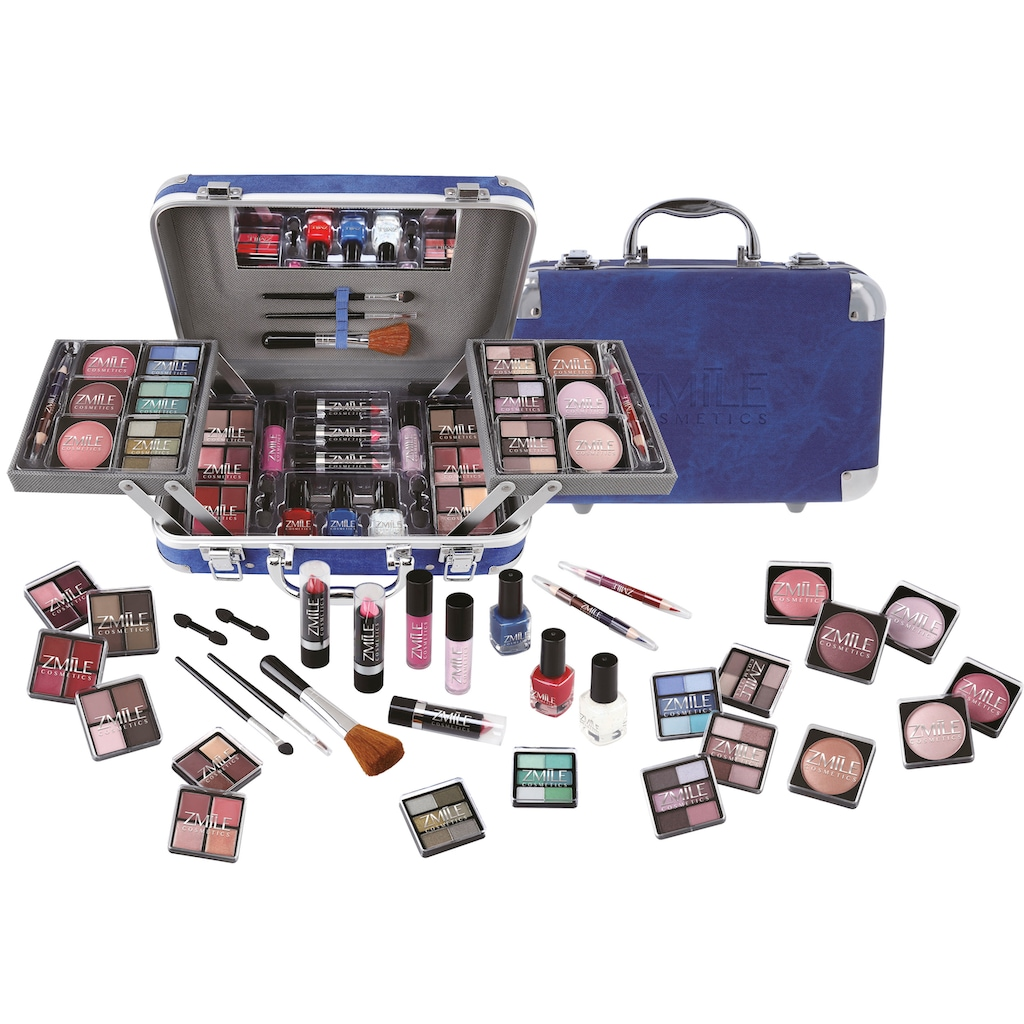 ZMILE COSMETICS Kosmetik-Koffer »Traveller blue«, (85 tlg.)