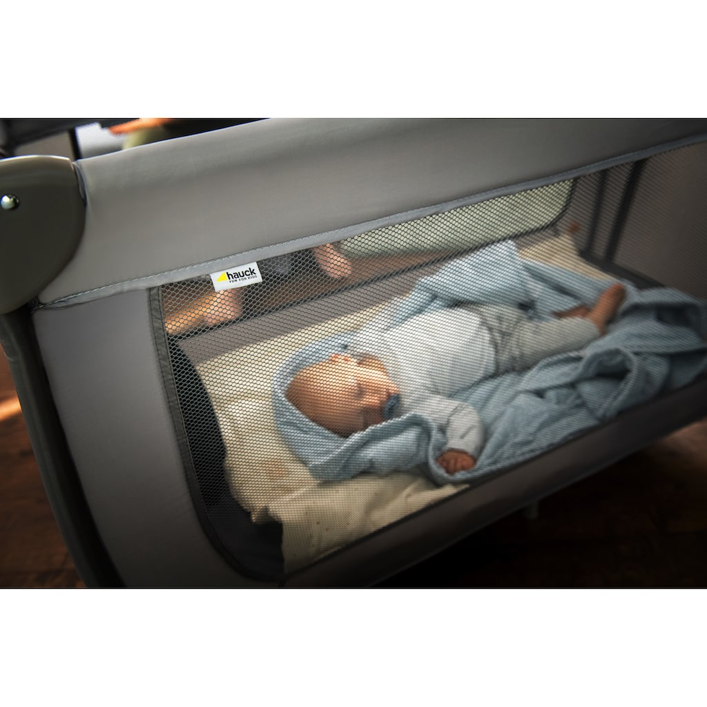 Hauck Baby-Reisebett »Dream N Play Plus, Grey«, inkl. Transporttasche