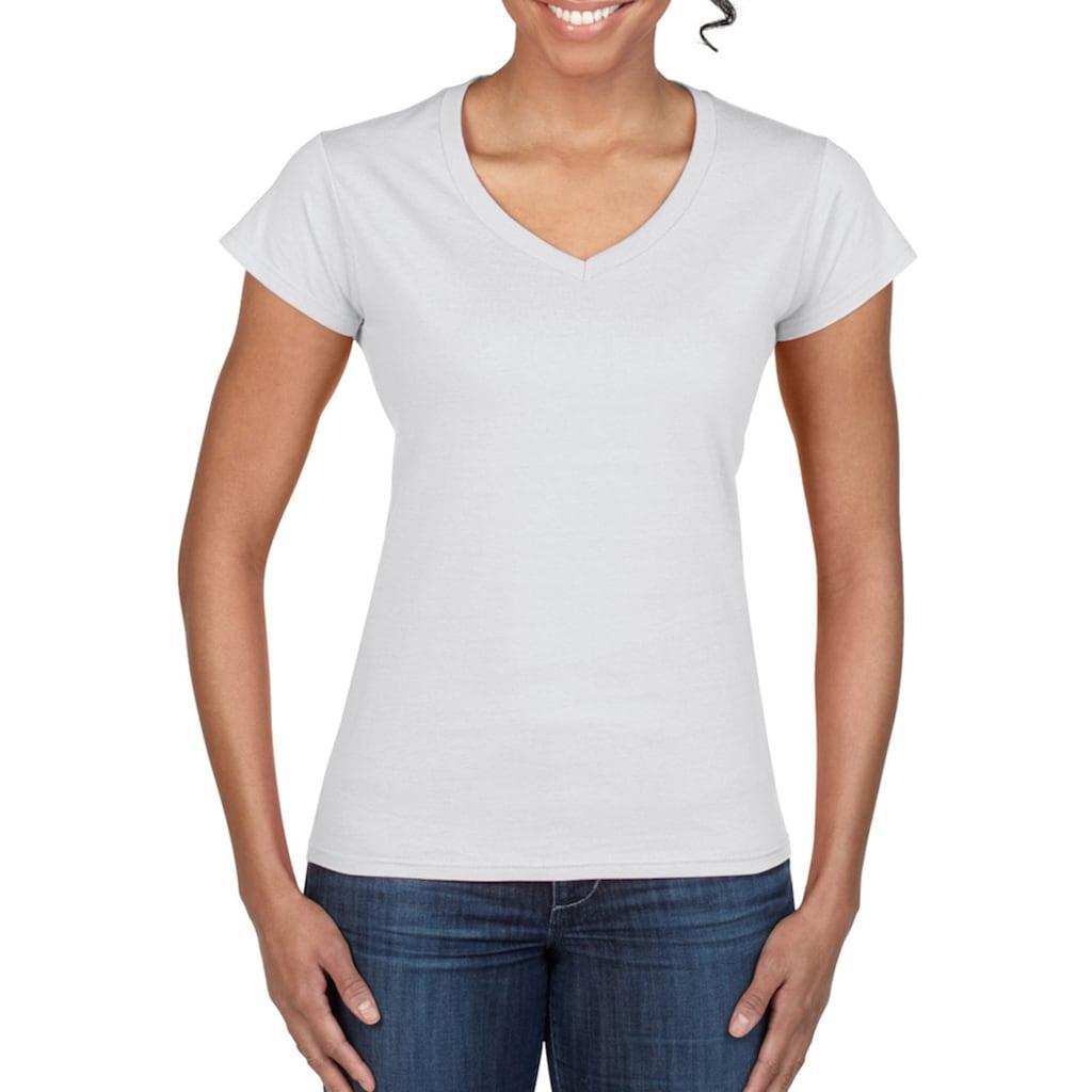 Gildan V-Shirt »Damen Kurzarm T-Shirt mit V-Ausschnitt«