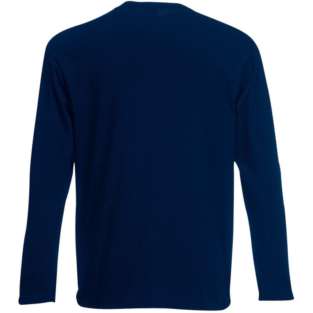 Fruit of the Loom Longsleeve »Herren Langarm T-Shirt mit Rundhalsausschnitt«