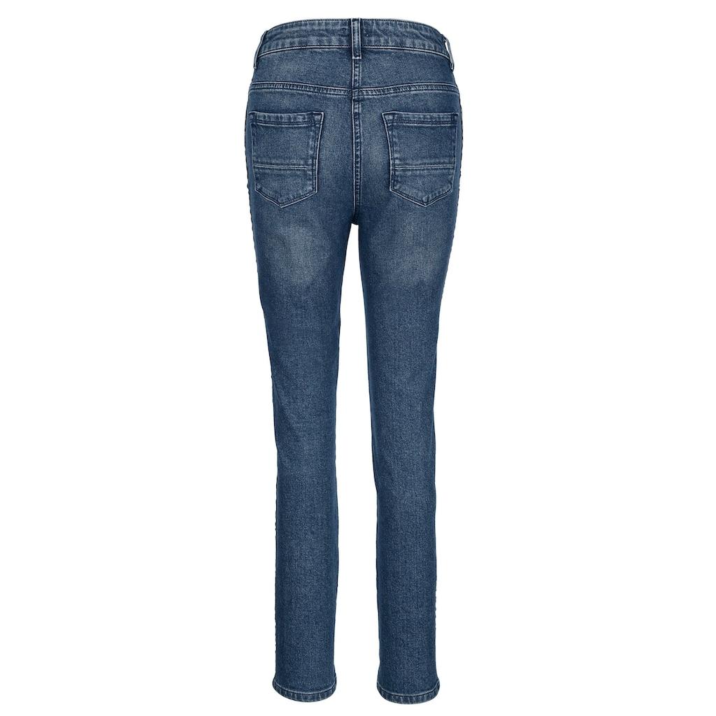 Mona Jeans mit Galon-Streifen