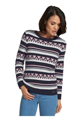 Casual Looks Pullover mit hübschem Einstrickmuster kaufen