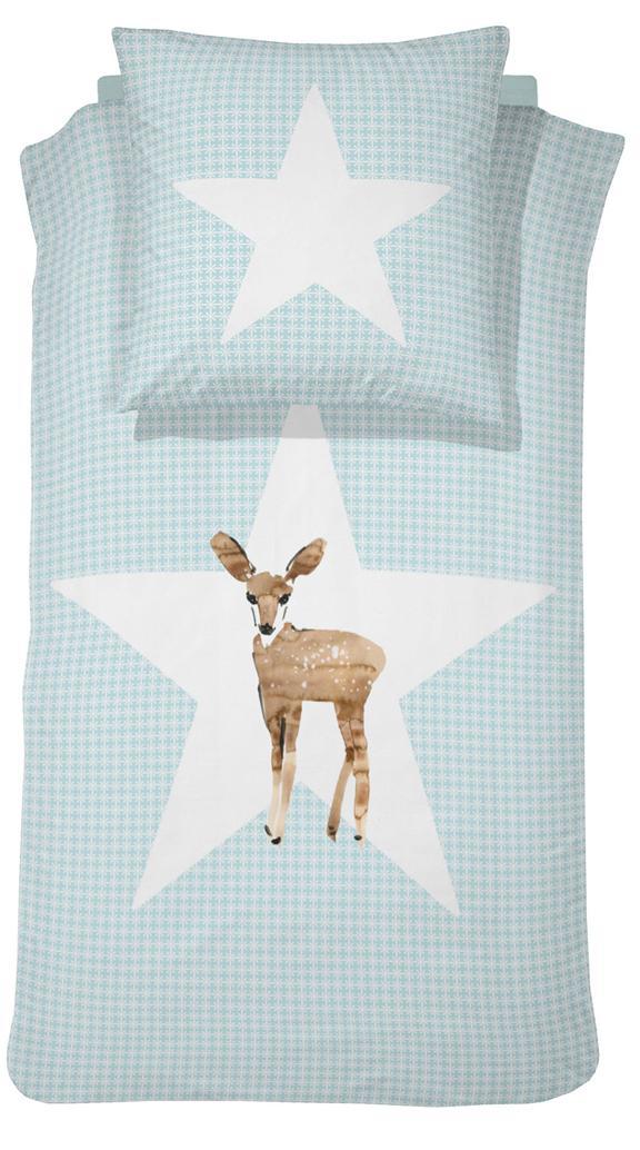 Kinderbettwäsche »Reh«, damai | Kinderzimmer > Textilien für Kinder > Kinderbettwäsche | Blau | Baumwolle | DAMAI