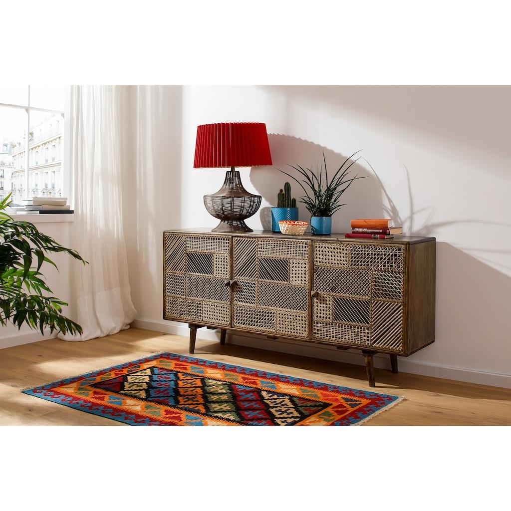 Home affaire Sideboard »Dogberry«, aus Rattan-Geflecht und massivem Mangoholz, handgefertigt, Breite 160 cm