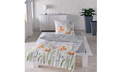 TRAUMSCHLAF Bettwäsche »Aquarell Blumen«, florale bügelfreie Sommerbettwäsche kaufen