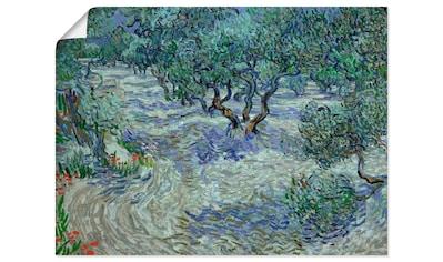 Artland Wandbild »Olivenhain. 1889«, Wiesen & Bäume, (1 St.), in vielen Größen &... kaufen