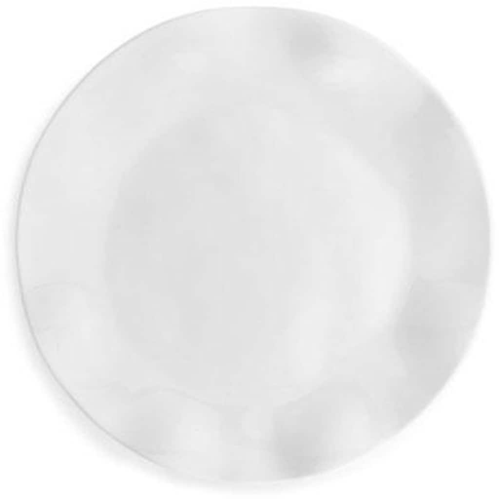 Q Squared NYC Teller »Ruffle Round«, (Set, 2 St.), Melamin, 27 cm