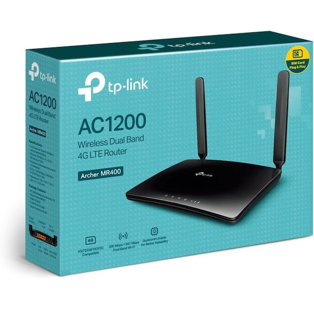 TP-Link Router »Archer MR400 AC1350 WLAN LTE (3G & 4G)«