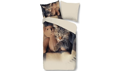 Wendebettwäsche »Cute Little Cat«, good morning kaufen