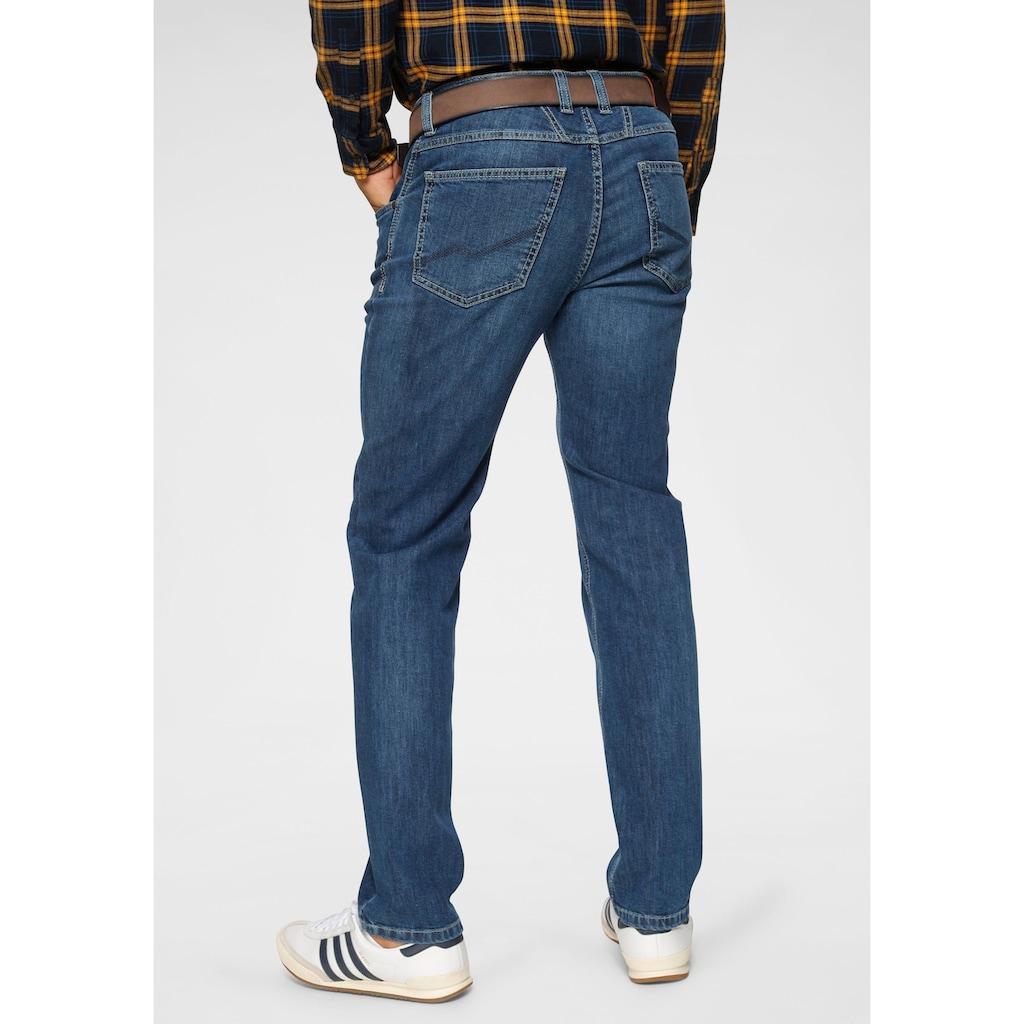 bugatti 5-Pocket-Jeans, Gürtelschlaufenbund mit Zip-fly