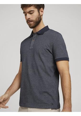TOM TAILOR Poloshirt »Poloshirt mit Birdseye-Muster« kaufen