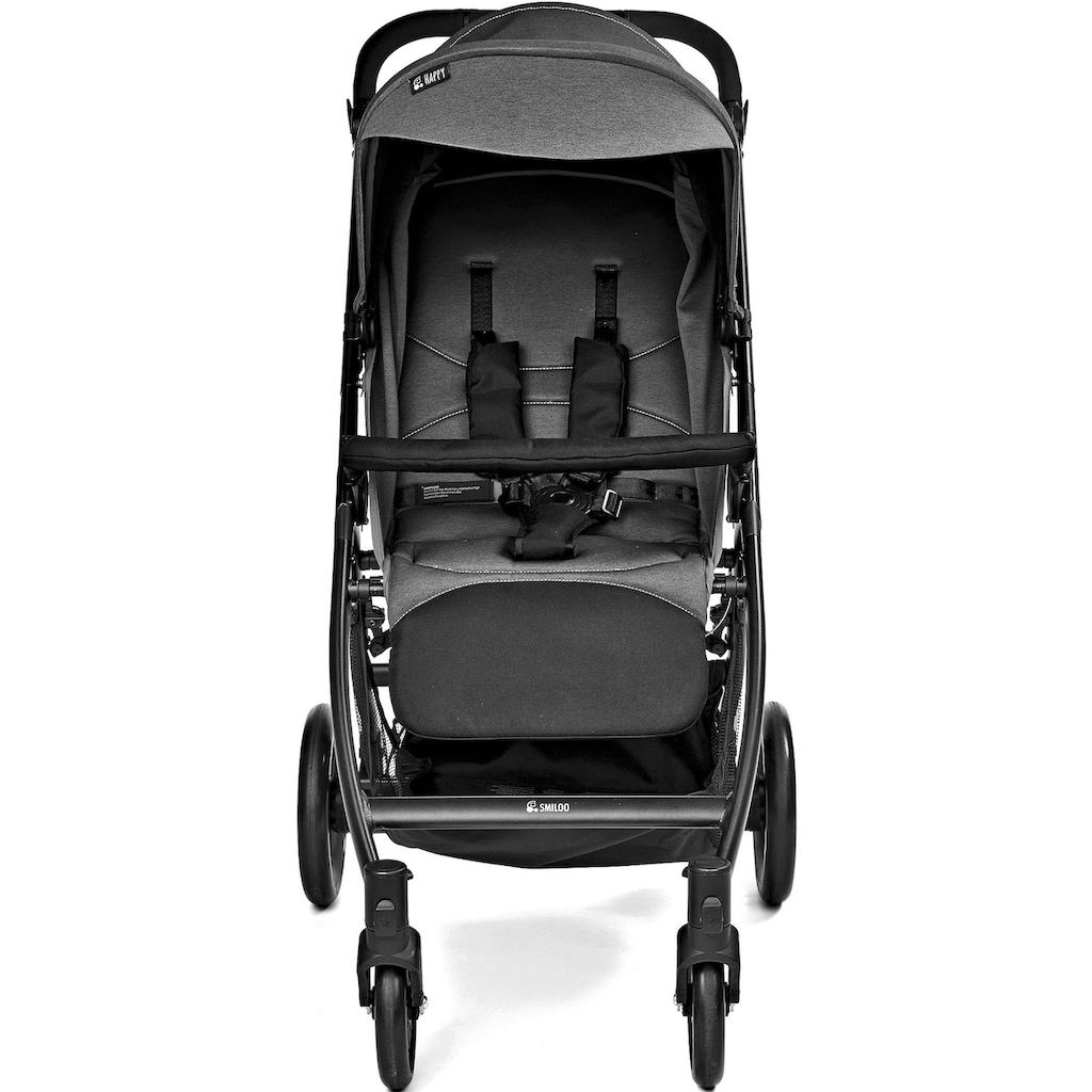 Gesslein Kinder-Buggy »Smiloo Happy, schwarz/grau meliert«, Kinderwagen, Buggy, Sportwagen, Sportbuggy, Kinderbuggy, Sport-Kinderwagen