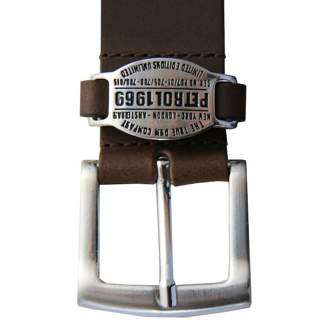 Petrol Industries Ledergürtel mit schicker Markengravur