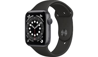 Apple Watch »Series 6 GPS, Aluminiumgehäuse mit Sportarmband 44mm«, (Watch OS inkl.... kaufen