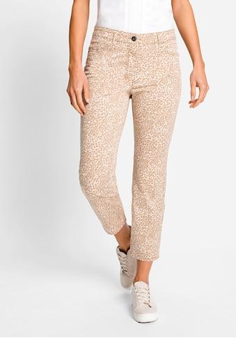 Olsen 5-Pocket-Hose, mit Leopardenprint kaufen