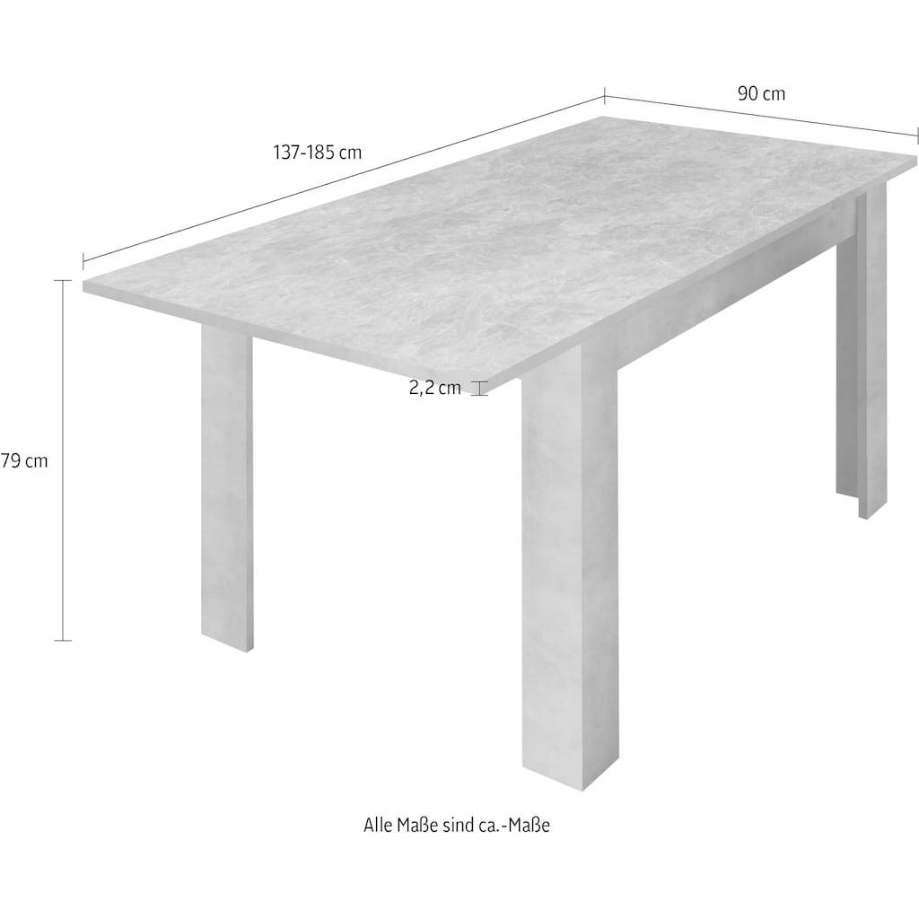 LC Esstisch »Urbino«, Breite 137 mit Ansteckplatte