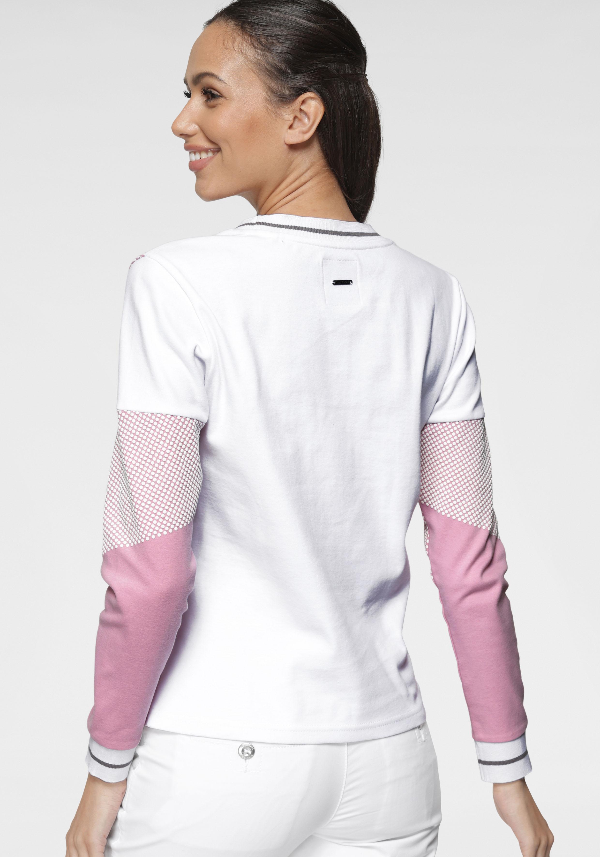 kangaroos -  Sweatshirt, im Colorblocking-Design mit Pünktchen