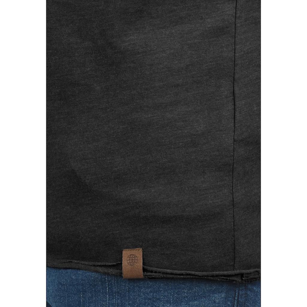 Blend Rundhalsshirt »Ireto«, Kurzarmshirt mit Knopfleiste