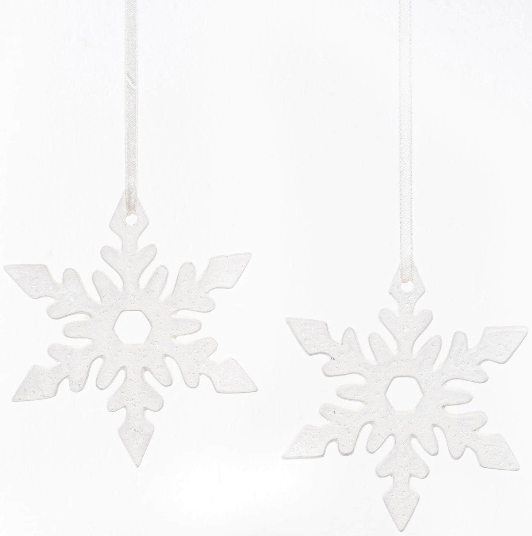 Fabriano Dekohänger Eiskristall Nerea (Set, 2 Stück) weiß Wanddekoration Deko Wohnaccessoires