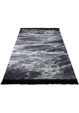 Leonique Teppich »Ana«, rechteckig, 5 mm Höhe, mit Fransen, Wohnzimmer kaufen