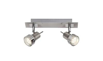 Brilliant Leuchten Kassandra LED Spotbalken 2flg eisen/chrom kaufen