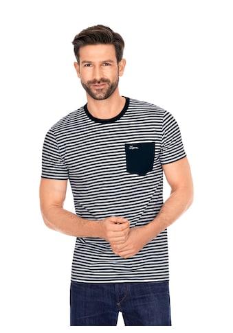 Trigema T-Shirt mit modischem Ringelmuster kaufen