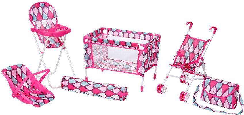 """Knorrtoys Puppen Reiseset """"Puppenreiseset pink"""" (Set 6-tlg) Technik & Freizeit/Spielzeug/Puppen/Puppenzubehör"""