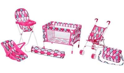 "Knorrtoys® Puppen Reiseset ""Puppenreiseset pink"", (Set, 6 - tlg.) kaufen"