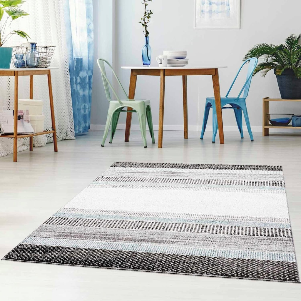 Carpet City Teppich »Moda 1142«, rechteckig, 11 mm Höhe, Kurzflor, Wohnzimmer