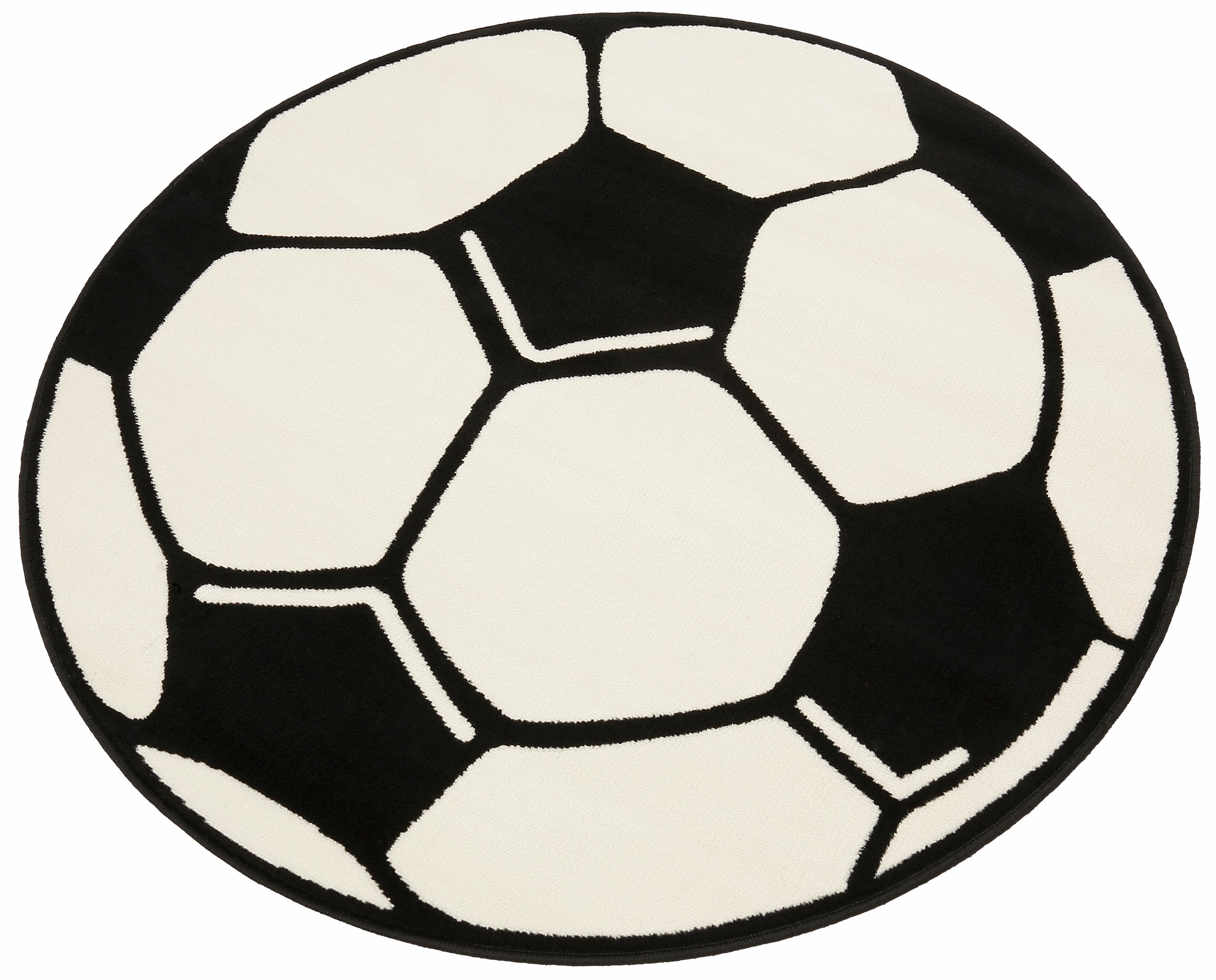 Kinderteppich Fußball HANSE Home rund Höhe 10 mm maschinell gewebt