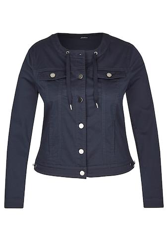 LeComte Jacke mit Uni-Design und Knopfleiste kaufen