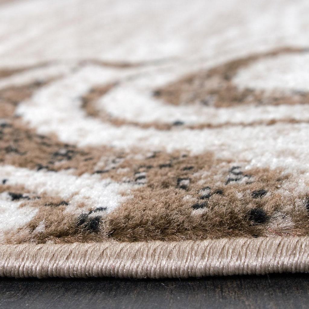 Paco Home Teppich »Sinai 053«, rechteckig, 9 mm Höhe, karierter Kurzflor mit Ornamenten