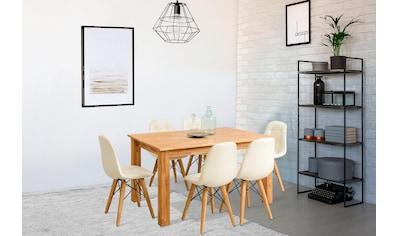 Home affaire Essgruppe »Ben«, (Set, 7 tlg.), bestehend aus 6 Stühlen und 1 Esstisch,... kaufen