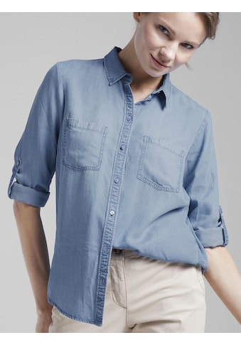 TOM TAILOR Jeansbluse »Bluse aus Lyocell« kaufen