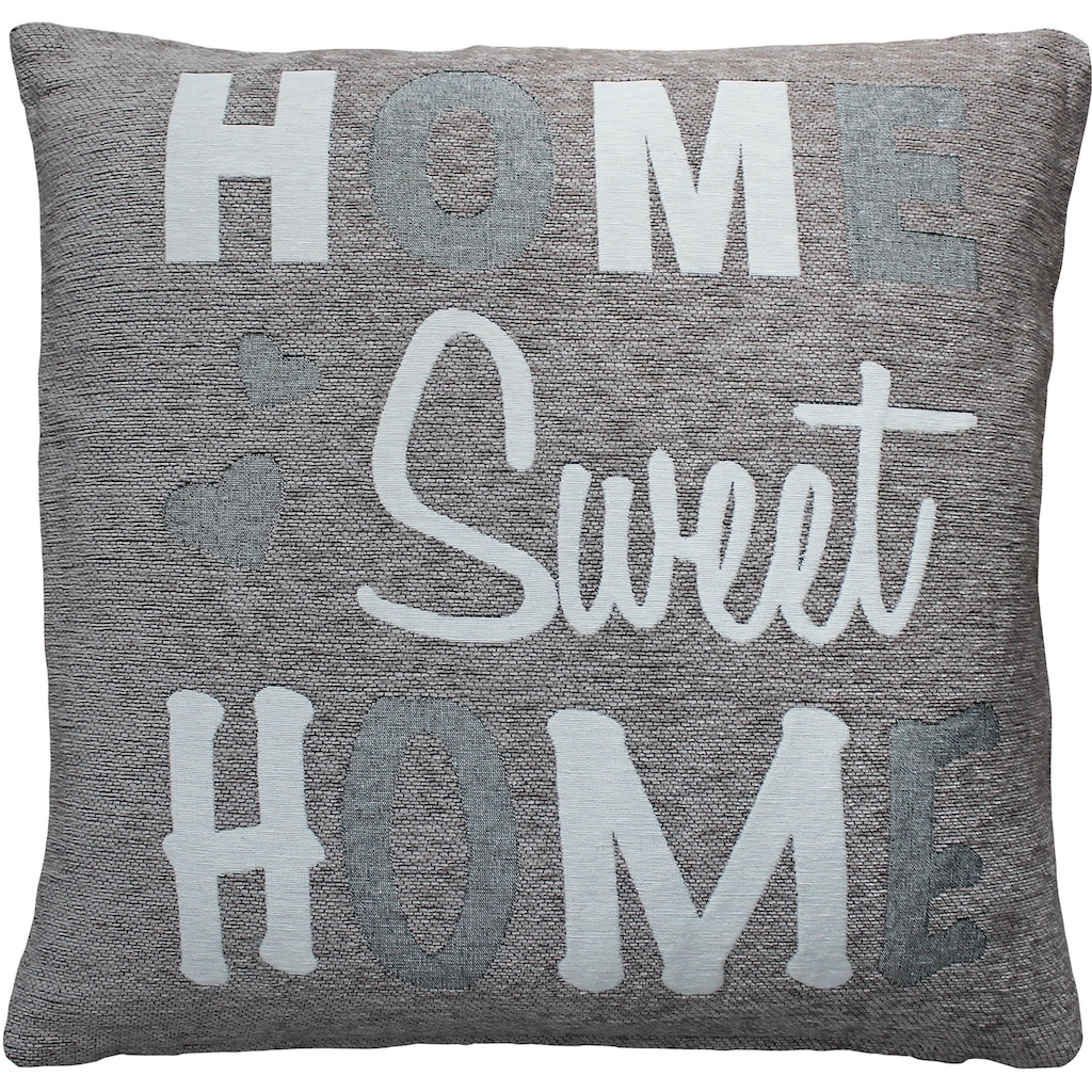 HOSSNER - HOMECOLLECTION Kissenhülle »Home Sweet Home«, (2)