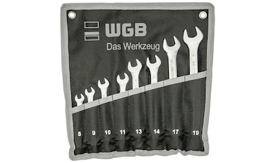 WGB BASIC PLUS Gabel- und Ringschlüssel »Ringmaulschlüssel-Satz«, Ringseite gekröpft kaufen