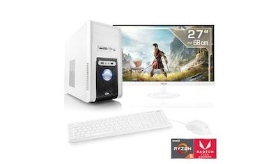 "CSL Multimedia PC Set Ryzen 5 3400G | Vega 11 | 16GB DDR4 | 27"" TFT »Sprint T8516 Windows 10 Home« kaufen"