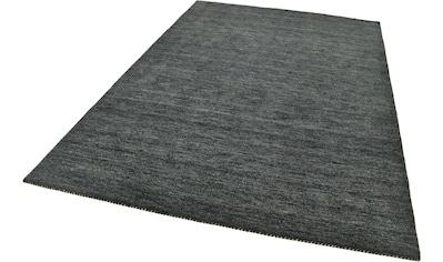 THEKO Wollteppich »Haltu Uni«, rechteckig, 17 mm Höhe, reine Wolle, handgewebt, Wohnzimmer kaufen