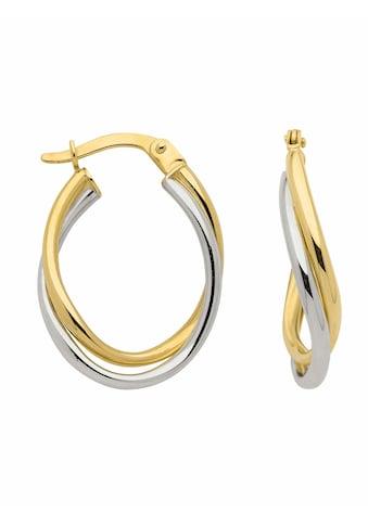 Adelia´s Paar Creolen »333 Gold Ohrringe / Creolen«, Goldschmuck für Damen kaufen