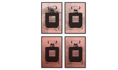 Wall-Art Mehrteilige Bilder »Kupfereffekt Eau de Parfum«, (Set, 4 St.) kaufen