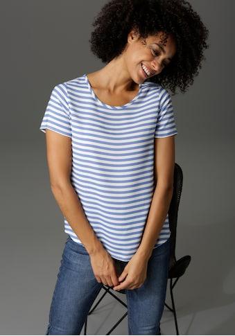 Aniston CASUAL Shirtbluse, mit Zier-Reißverschluss im Rücken - NEUE KOLLEKTION kaufen