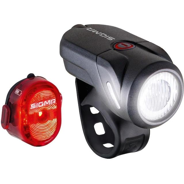 SIGMA SPORT Fahrradbeleuchtung »AURA 35 USB / NUGGET II K-Set« (Spar-Set, 4-tlg., Front- und Rücklicht)