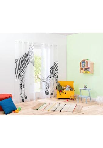 Gardine, »Zebra«, my home, Ösen 2 Stück kaufen