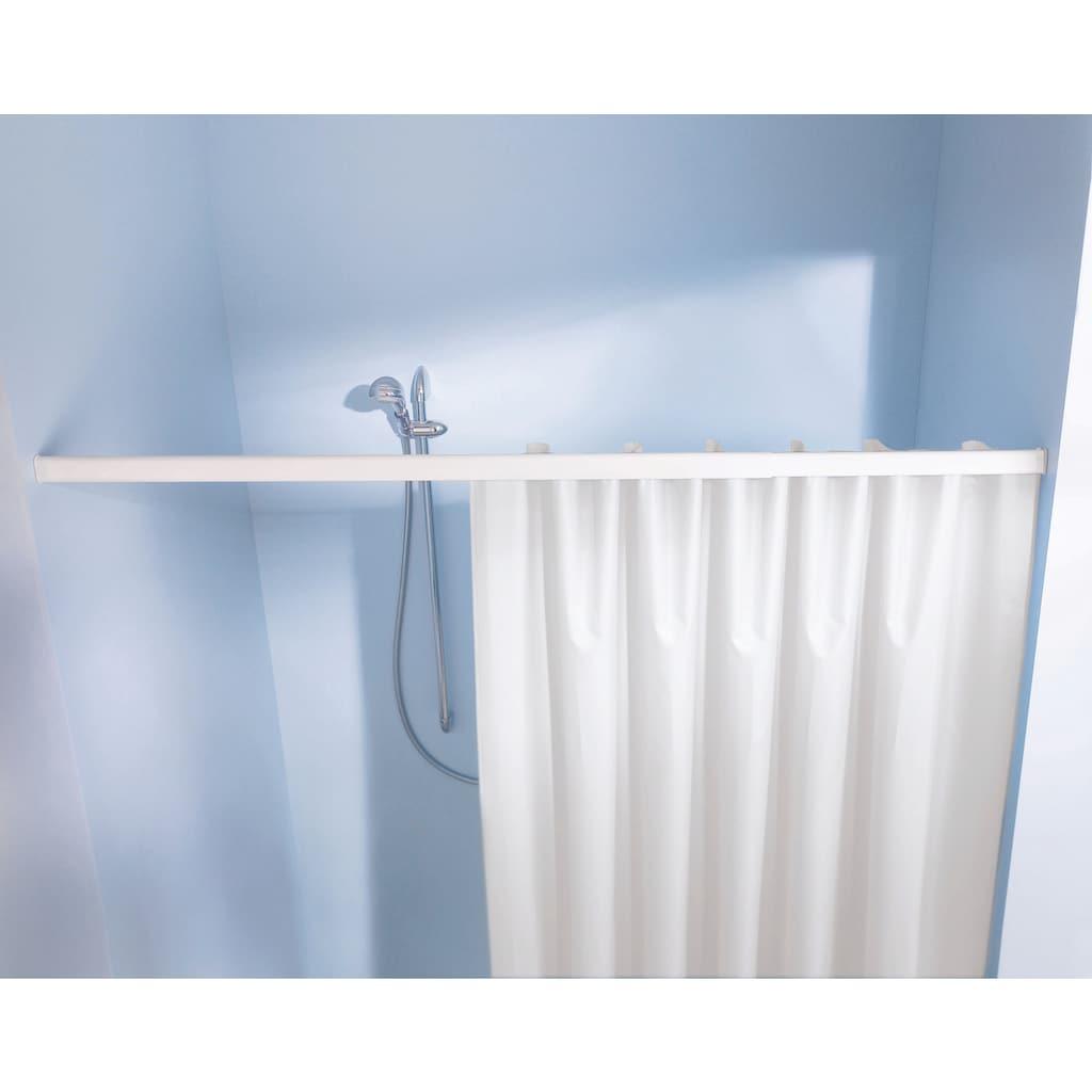 Kleine Wolke Vorhangschiene »Federschiene«, ausziehbar-kürzbar, für Duschvorhänge, Länge 125-220 cm