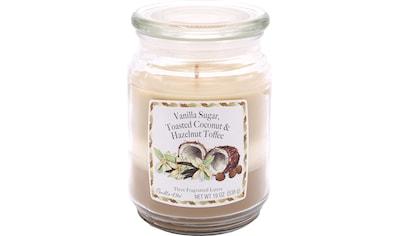 "Candle - lite™ Duftkerze ""Three - Layer Jars  -  Vanilla Sugar, Toasted Coconut, Hazelnut Toffee"", (1 - tlg.) kaufen"